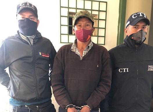 CTI Boyacá capturó a un hombre para cumplir una condena a 18 años de prisión por agresión sexual contra su suegra de 70 años