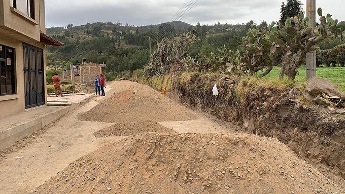 Comunidad de un sector de Tibasosa exige a contratista que se les respeten sus derechos