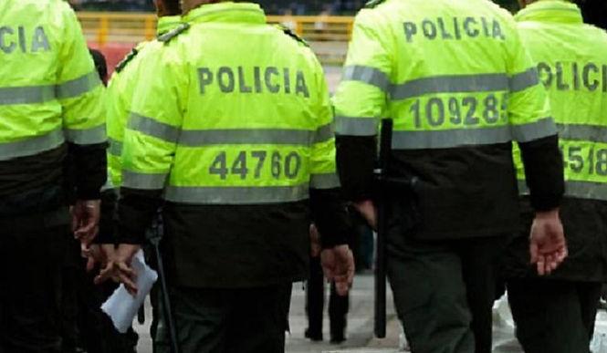 Intervención policial en la vía Paipa-Tunja