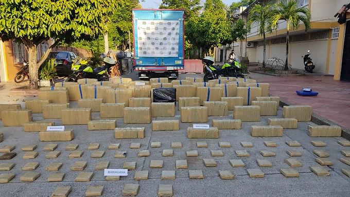 Más de un millón de dosis de marihuana fueron incautadas en Puerto Boyacá