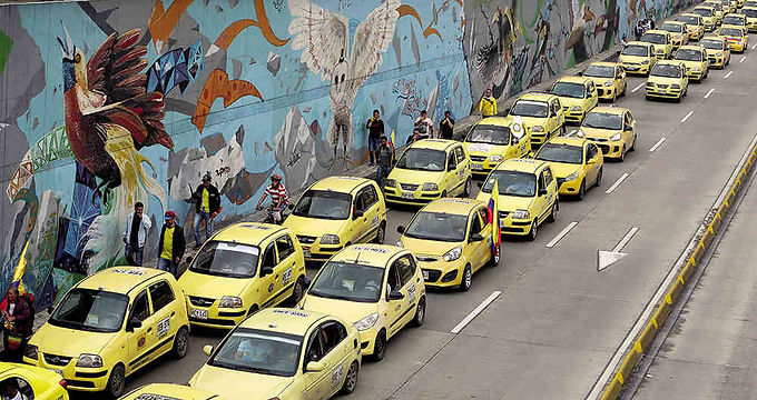 Se van a paro los taxistas