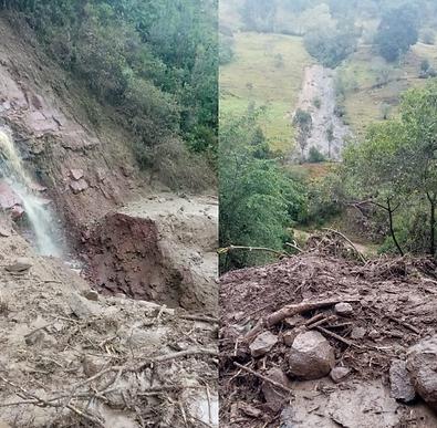 Incomunicados Boyacá y Santander por avalancha en El Encino