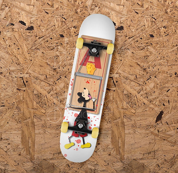 Baker Skateboard Mouse Trap Parody Design