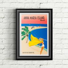 Anna Maria Island Vintage Poster