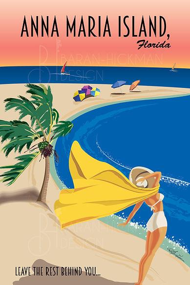 Anna Maria Island Vintage Travel Poster