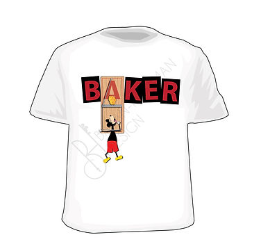 Baker Skateboard Mouse Trap Parody T-shirt Design