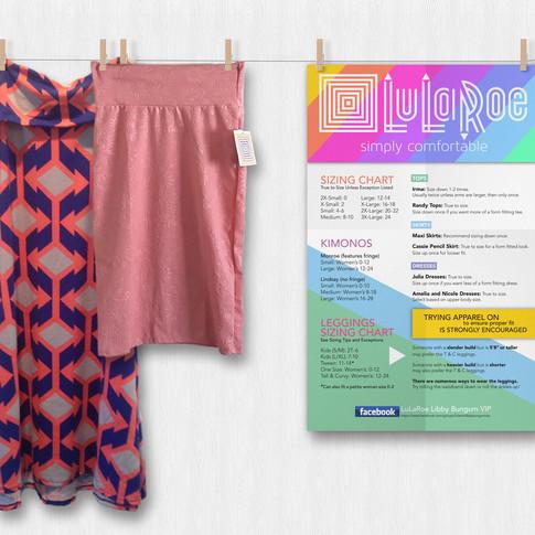 LuLaRoe Sizing Banner