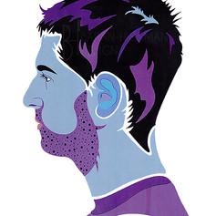 Purple & Blue Male Portrait