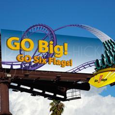 Six Flags Theme Parks Advertisements