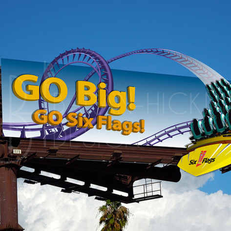 Six Flags Theme Parks Advertisements