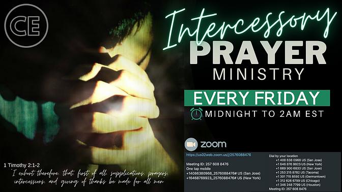 Intercessory Prayer Ministry Christ Emba