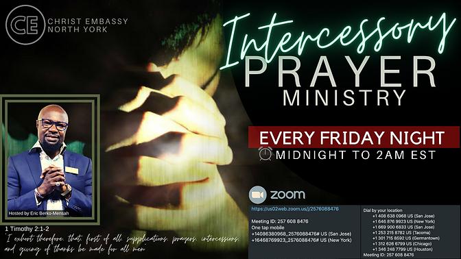 CHRIST EMBASSY INTERCESSORY PRAYER MINIS