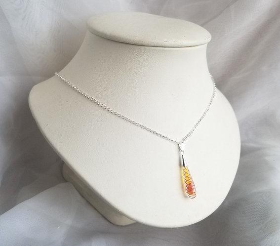 Glass Fire Twist Necklace