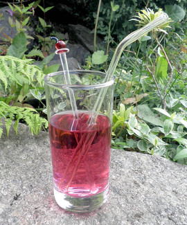Cocktail stirrer and glass straw