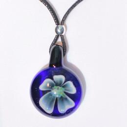 GLASS FLOWER IMPLOSION BLUE