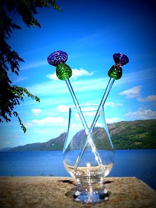Glass thistle sticks