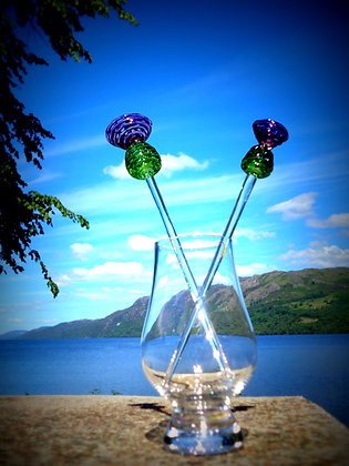 Thistle cocktail stirrers, Large and Small