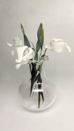 Glass Snowdrops in vase