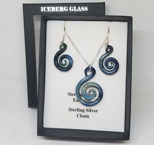Glass Spiral Jewellery Set