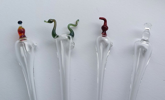 Whisky pipette, Coloured Thistle Design Whisky Dropper