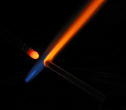 Lampwork shop flame