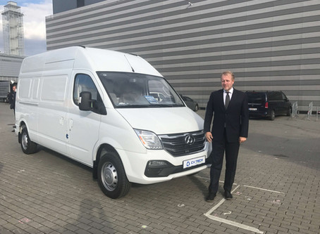 MAXUS EV80 na veletrhu Ampér 2019