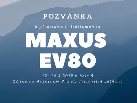 Maxus EV80 na největším autosalonu v ČR