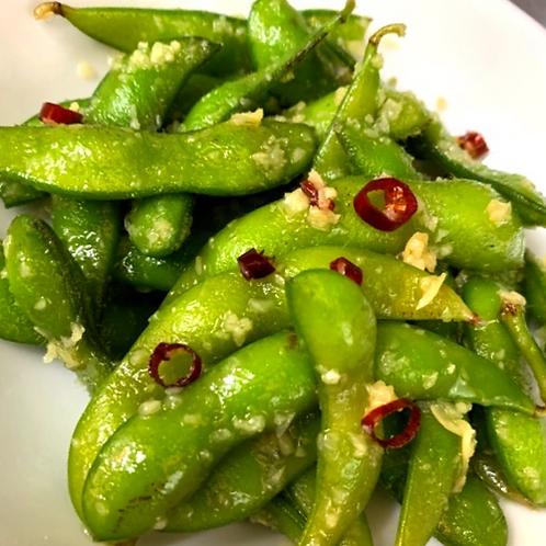 枝豆ペペロンチーノ風