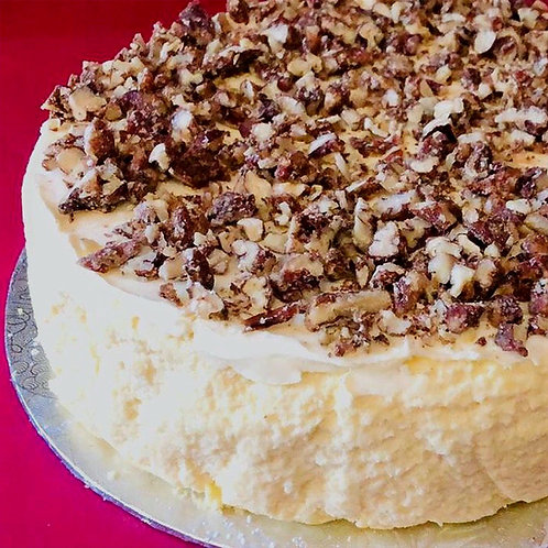 Banting Cheesecake - Nut Brittle with Cream Cheese Topping