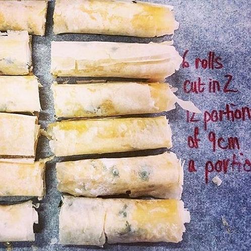 Goat's Cheese Phyllo Cigar Rolls