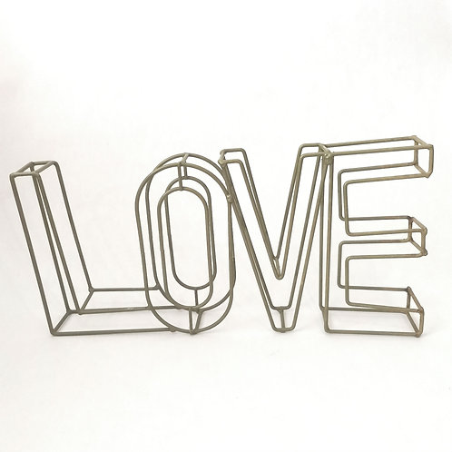 LOVE Wire Decor Piece