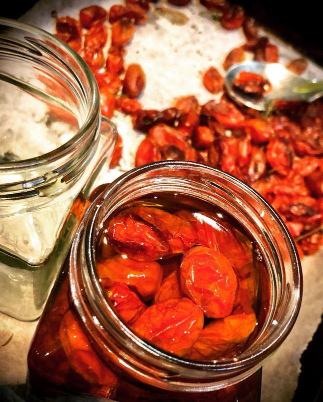 Roasted Cherry Tomatoes in Olive oil