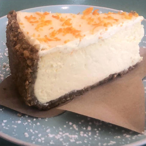 Cashew Crusted Lemon and Naartjie Cheesecake Slice