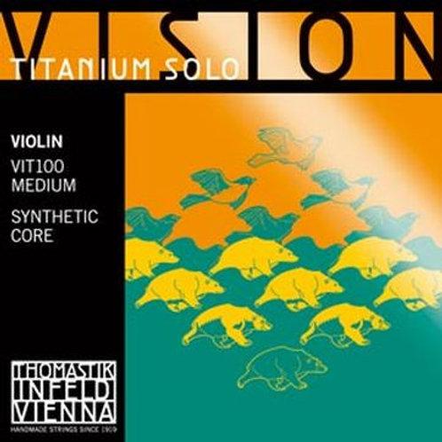 Thomastik, Vision Titanium Solo, Violin Strings, Set