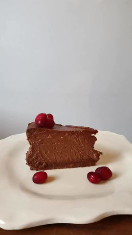 The Silkiest Baked Chocolate Cheesecake!