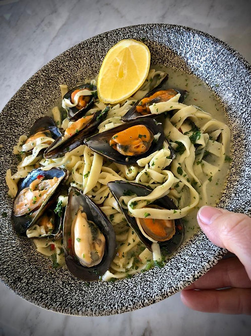 Home-made Pasta with Mussels