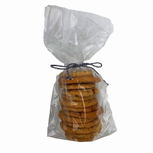 Ginger Macadamia Nut Round Cookies