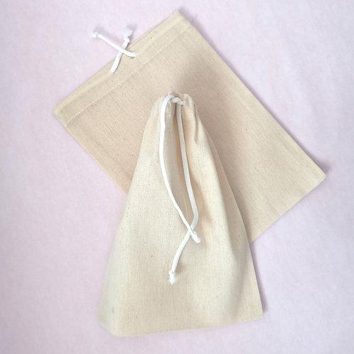 Linen Drawstring Treat Bag
