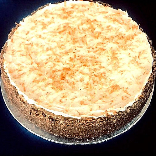 Cashew Crusted Lemon and Naartjie Cheesecake