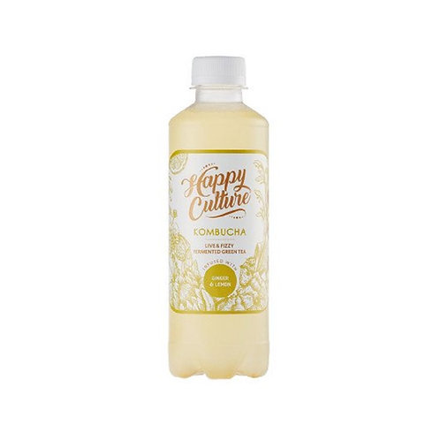 Happy Culture Kombucha - Ginger and Lemon