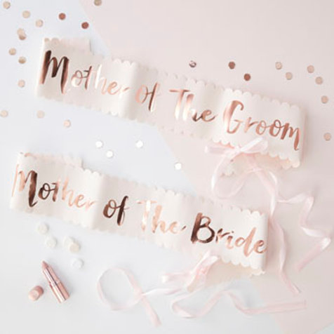 Team Bride - Mother of the bride and Groom Sash