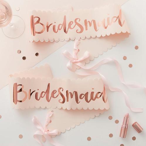 Team Bride - Bridesmaid Sash - 2 Pack