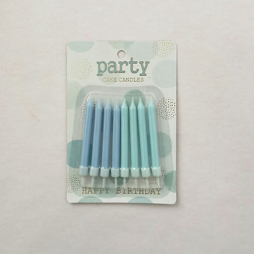 Shades of Blue Cake Candles