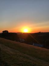 Sonnenuntergang über Niggenbölling
