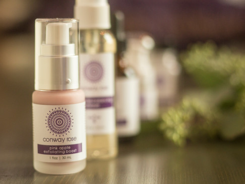 our own conway rose skincare products