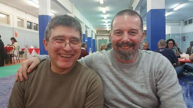 Con Gaetano Fetonti Sensei al Dojo Kashin