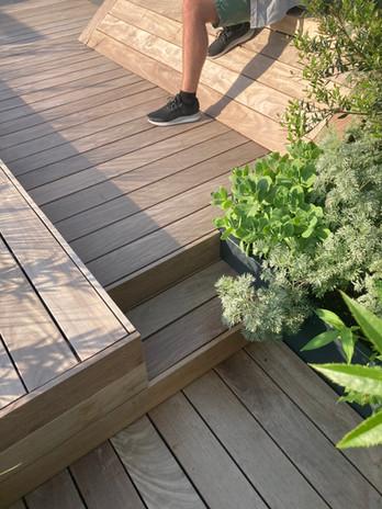 Timber sun deck