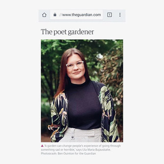 """👀 'The Poet Gardener' 🙆🏻♀️🍃- not sure if worthy of such a cool title but I'll take it 🙋🏻♀️ thank you the _guardian 🧚🏻♂️ """"Ula Maria's gard"""