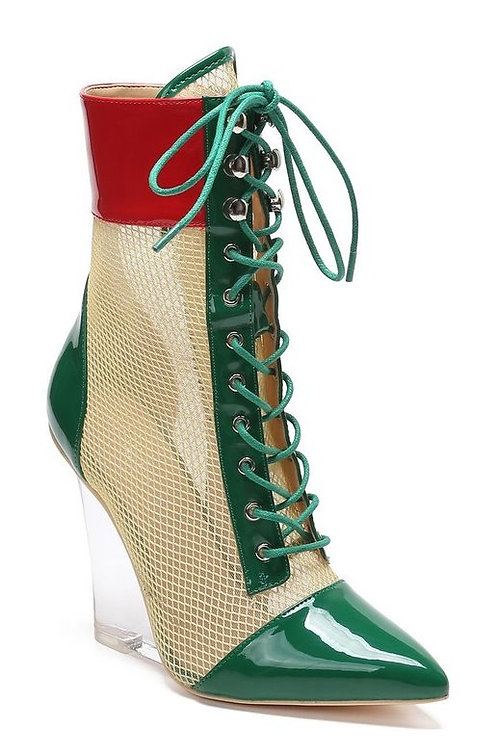 Guccie Green Booties