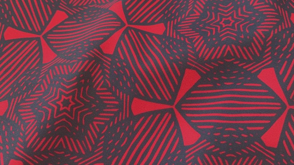 AÏKO ardoise et rouge carmin - tissus swimwear en précommande